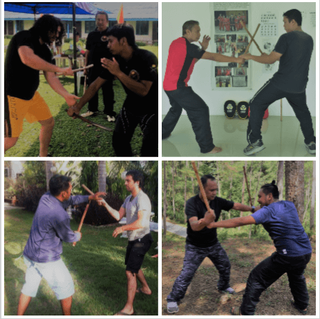 Escrima stick fighting